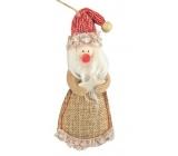 Santa from jute hanging 13 cm