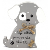 Nekupto Pets Wooden sign When I need a helping hand, I say pac 12 x 9 x 1.5 cm