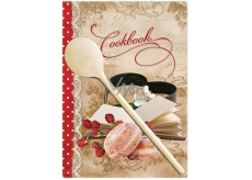 Ditipo Recipe book with wooden spoon, donuts 17 x 24 cm