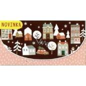 Nekupto Money envelope Christmas 116 x 220 mm Houses