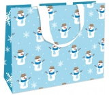 Nekupto Gift paper bag with embossing large 30 x 23 x 12 cm Christmas 1783 WLFL
