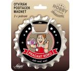 Nekupto Hobby 3in1 opener, coaster, magnet Worker of the Year 10 cm