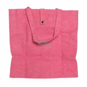Albi Eco bag made of washable folding paper - pink 37 cm x 37 cm x 9.5 cm