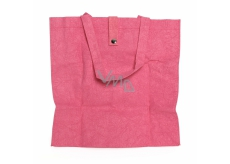Albi Eco bag made of washable folding paper - pink 37 cm x 37 cm x 9.5 cm