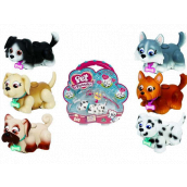 Pet Parade Dog + leash + cube + sticker, picks up a toy, goes on a leash, moves his head and legs, dogs of various kinds