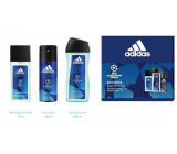 Adidas UEFA Champions League Dare Edition VI perfumed deodorant glass for men 75 ml + shower gel 250 ml + deodorant spray 150 ml, cosmetic set