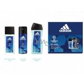 Adidas UEFA Champions League Dare Edition VI perfumed deodorant glass 75ml + shower gel 250ml + deodorant spray 150ml cosmetic set for men