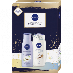 Nivea Coconut Care body lotion 200 ml + shower gel 250 ml, cosmetic set for women