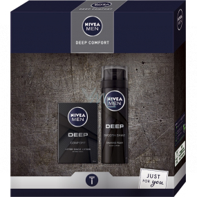 Nivea Men Deep Comfort aftershave 100 ml + shaving foam 200 ml, cosmetic set for men