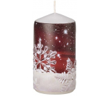 Emocio Candle red with flakes cylinder 60 x 110 mm