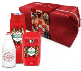 Old Spice BearGlove Travel antiperspirant deodorant stick 50 ml + 2in1 shower gel for body and hair 250 ml + aftershave 100 ml + case, cosmetic set for men