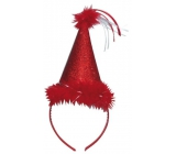 Hat with a red swan, headband