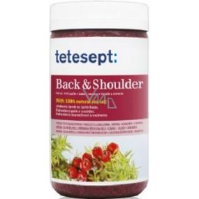Tetesept Back & Shoulder Back and Shoulder Muscles Libavka + Juniper + Coriander 100% Sea Salt 900 g