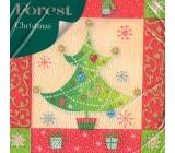 Forest Vánoční papírové ubrousky Vánoční stromeček 1 vrstvé 33 x 33 cm 20 kusů