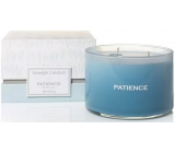 YANKEE CANDLES fragrance glass 3 wicks Patience Sea Glass 5782