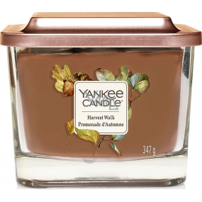 Yankee Candle Harvest Walk - Soybean Harvest Scented Candle Medium Glass 3 Wicks 347 g