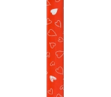 Wrapping paper red with hearts 70 x 150 cm 968 30