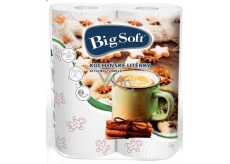 Big Soft Winter paper kitchen towels with 2 layers print 2 pieces