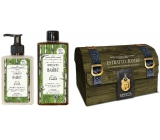 Amovita Estratto di Bambú Bamboo extract body lotion 300 ml + shower gel 300 ml + pendant for happiness, cosmetic set