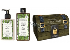 Amovita Estratto di Bambú Bamboo extract body lotion 300 ml + shower gel 300 ml + lucky pendant, cosmetic set