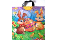 A plastic bag with handle Easter Bunnies 45 x 50 cm 1 piece