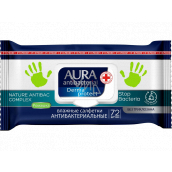 Aura Antibacterial wet wipes for hands, destroys up to 99% of bacteria 72 pieces