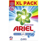 Ariel Color Fresh Touch of Lenor Fresh washing powder for colored laundry box 63 doses 4,725 kg