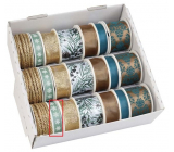 Ditipo Ribbon Winter green with white flakes 3 mx 15 mm