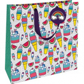 Nekupto Gift paper bag 32.5 x 32.5 x 14 cm Ice cream 1846 L - LIL