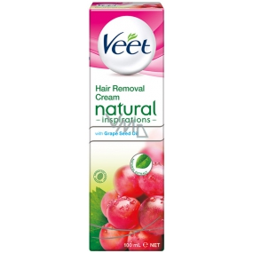Veet Natural Inspirations depilatory cream for sensitive skin of the feet and body 100 ml