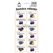 Arch Stickers Home Brandy Slivovica SK 12 labels