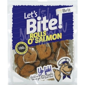 Brit Lets Bite Salmon rolls treat for dogs 400 g