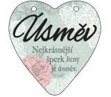 Albi Hanging plaque heart Smile 9 cm × 10 cm
