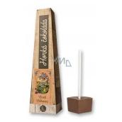Bohemia Gifts & Cosmetics Horká extra jemná výběrová čokoláda Veselé velikonoce anděl s kuřátky 30 g