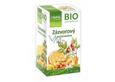 Apotheke Bio Ginger tea with orange helps digestion, breathing and well-being 20 x 1.5 g