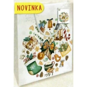 Nekupto Gift paper bag small 14 x 11 x 6,5 cm Christmas 1794 02 WBS
