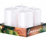 Emocio Perla white candle cylinder 38 x 60 mm 4 pieces