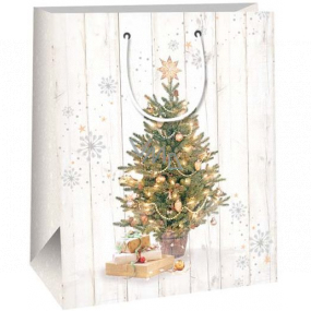 Ditipo Gift paper bag 26.4 x 13.6 x 32.7 cm tree with gifts