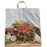 Plastic bag 46 x 43 cm with handle Vegetables