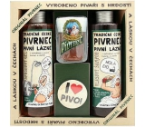 Bohemia Gifts Pivrnec shower gel 250 ml + hair shampoo 250 ml + toilet soap 70 g + button I love beer