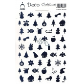 Arch Holographic Christmas decorative stickers various motifs blue