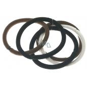 Hair band white, brown, dark brown 5,5 x 1 cm 5 pieces