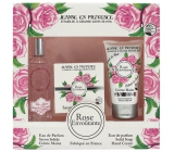Jeanne en Provence Rose Envoutante - Captivating rose perfume water for women 60 ml + solid toilet soap soap 100 g + hand cream 75 g, cosmetic set