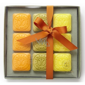 Erbario Toscano Olive oil, Bergamot and verbena, Wild tangerine soap 9 x 30 g, luxury cosmetic set