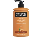 Authentic Toya Aroma Ginger & Lemongras Liquid Soap 400 ml dispenser