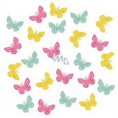 Wooden butterflies 2 cm, 24 pcs