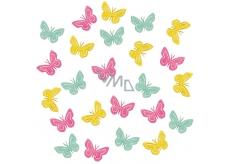 Butterflies wooden 2 cm 24 pieces