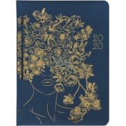 Diary B6 Weekly Golden Flowers Lady
