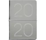 Albi Diary 2020 weekly metallic Silver 19 x 13 x 0,7 cm