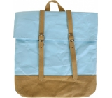Albi Eco backpack with straps made of washable paper Blue 38 x 36 x 9 cm